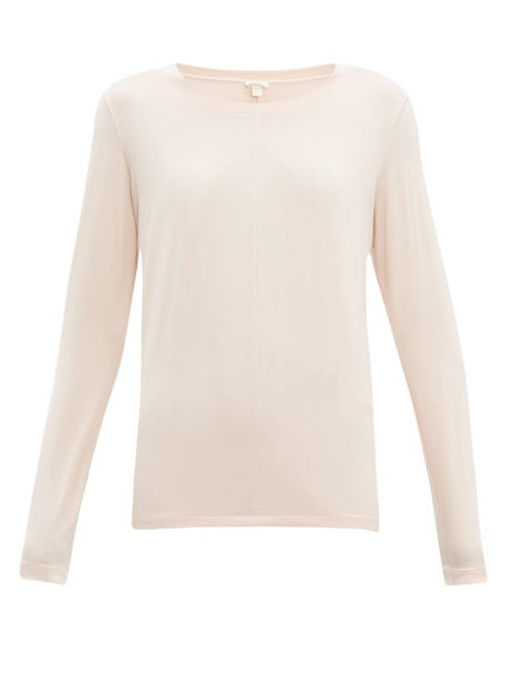 Hanro - Long Sleeved Jersey Pyjama Top - Womens - Pink