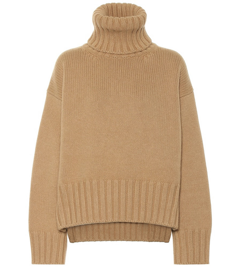 Prada Cashmere turtleneck sweater in brown