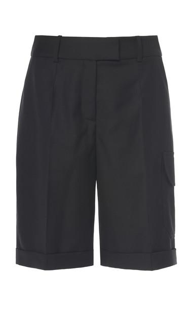 Boyarovskaya Wool Cargo Shorts Size: XS in black