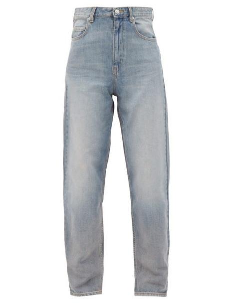 Isabel Marant Étoile - Corsy High-rise Tapered Jeans - Womens - Light Denim