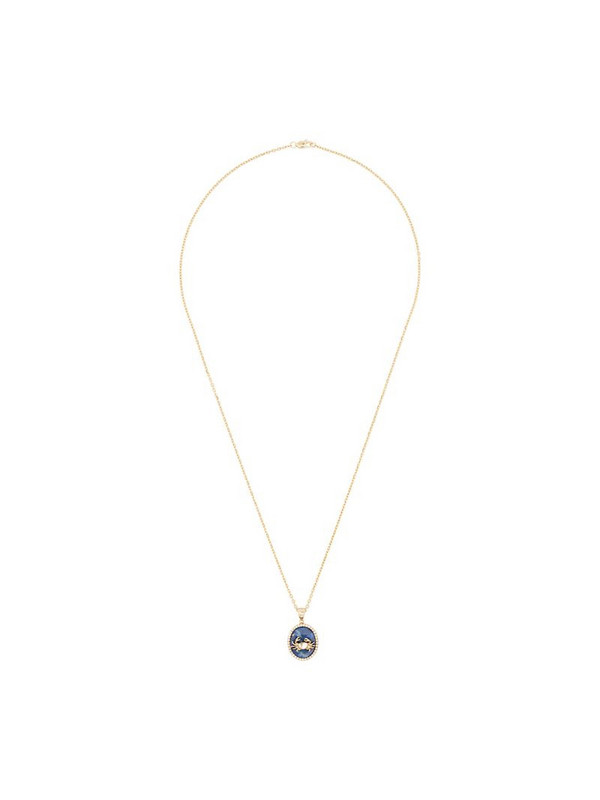 O Thongthai 14K yellow gold Cancer lapis necklace