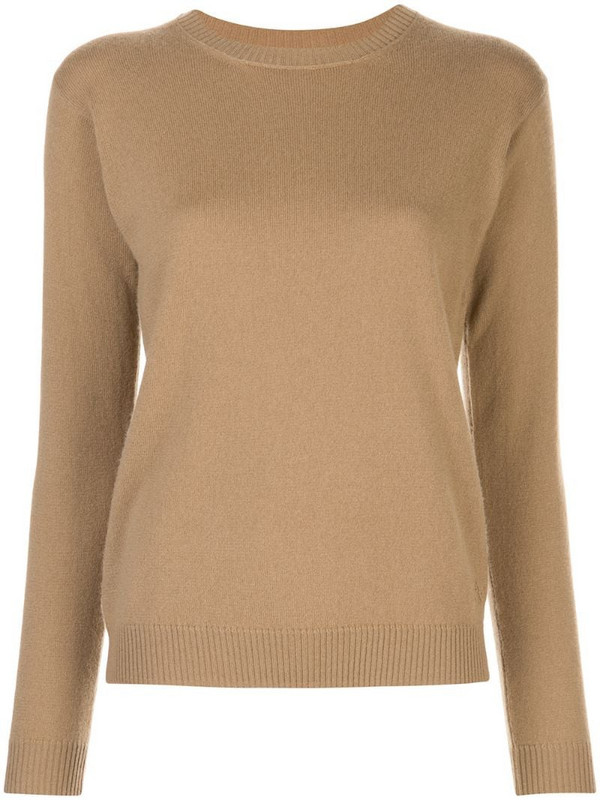 Alexandra Golovanoff crew neck jumper in brown