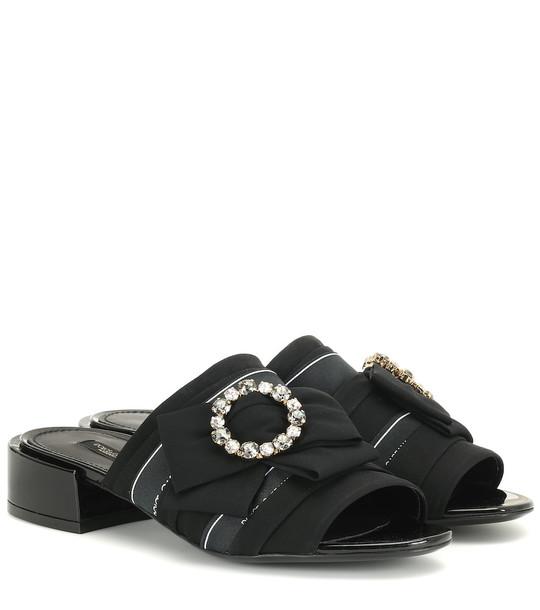 Dolce & Gabbana Crystal-embellished sandals in black