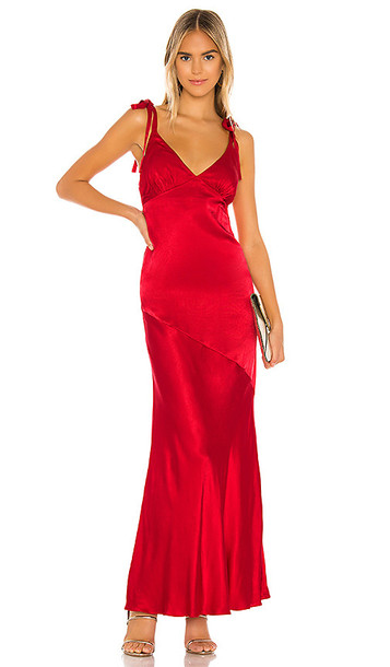 Privacy Please Nina Maxi Dress in Red