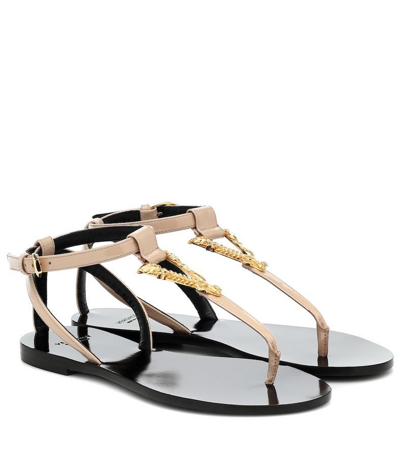 Versace Virtus leather thong sandals
