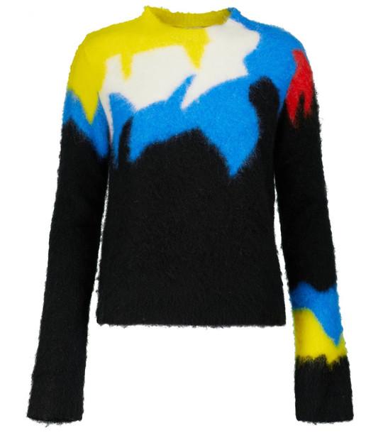 LOEWE Intarsia cropped sweater