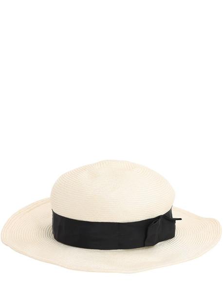 SCHA Bibi Unique Parasisal Straw Hat in ecru