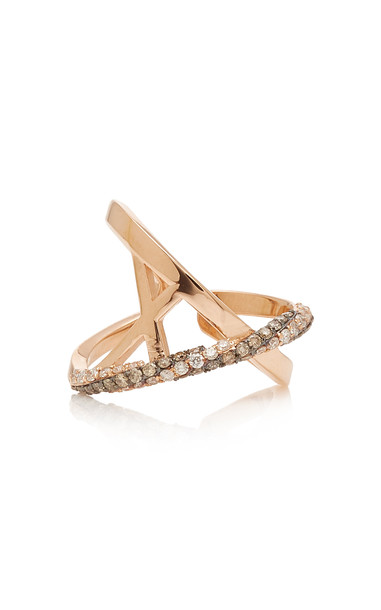 TULLIA 14K Rose Gold Diamond Ring