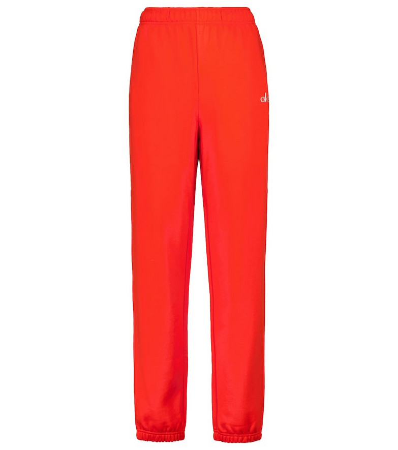 Alo Yoga Accolade cotton-blend sweatpants in red