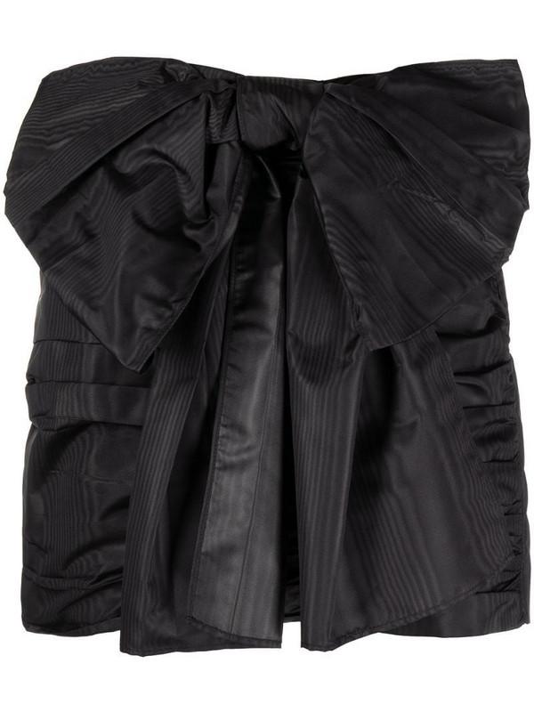 RED Valentino oversized-bow mini skirt in black