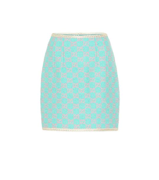 Gucci GG tweed miniskirt in blue