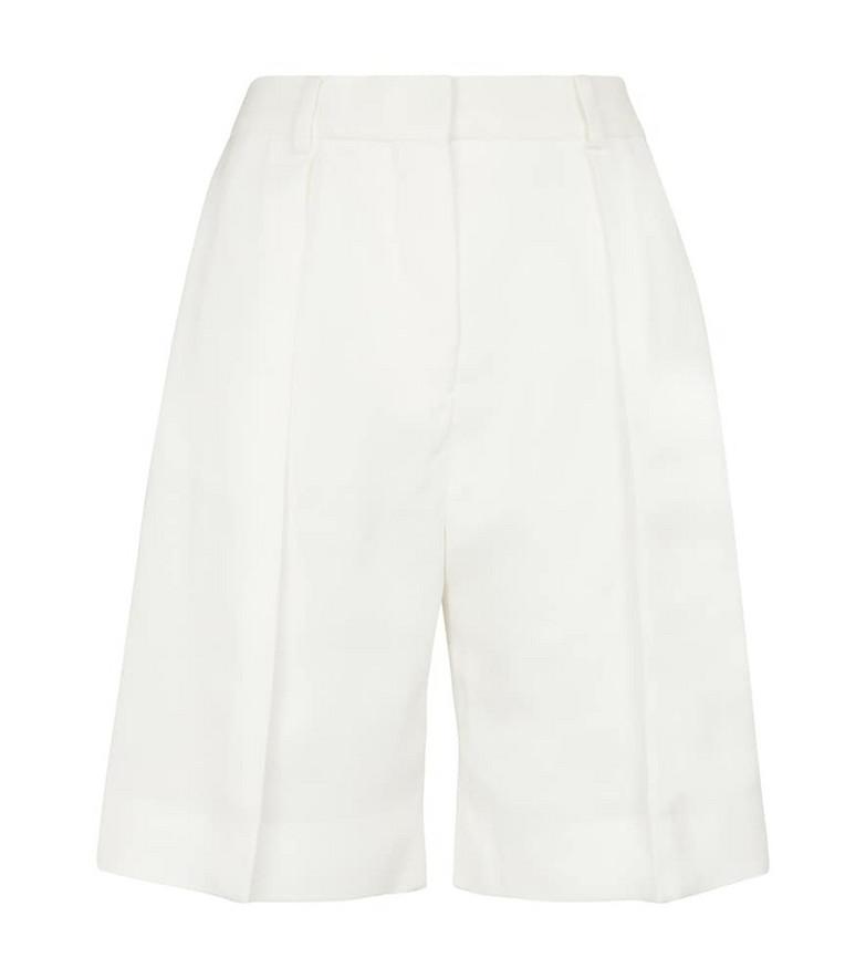 Victoria Victoria Beckham High-rise Bermuda shorts in white