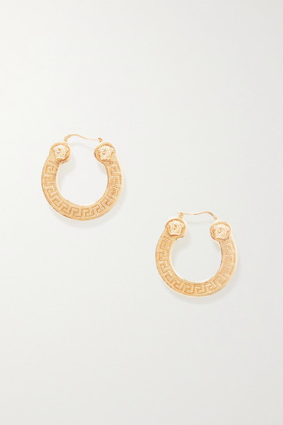 Versace - Gold-tone Hoop Earrings