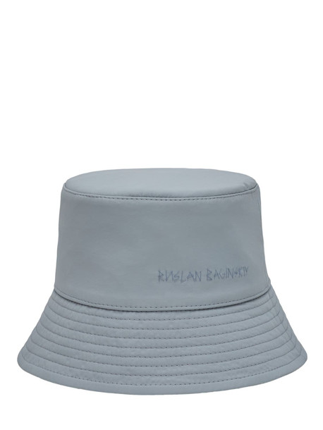 RUSLAN BAGINSKIY Nylon Lampshade Bucket Hat in grey