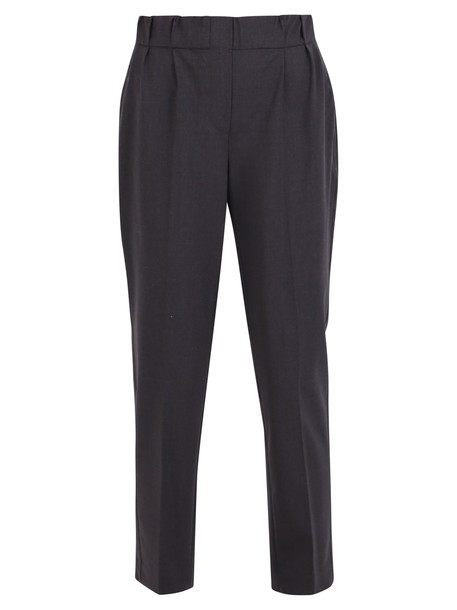Brunello Cucinelli Embellished Trousers in grey