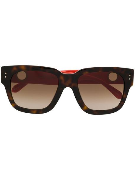 Linda Farrow square frame sunglasses in brown