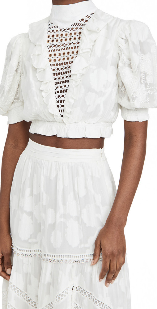 Hemant and Nandita Crop Top in white