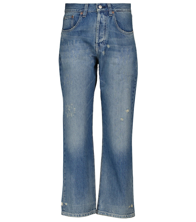 Victoria Beckham Victoria high-rise straight jeans in blue