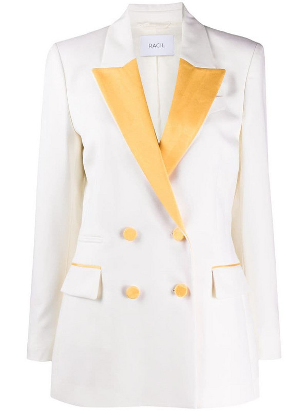 Racil double-breasted blazer in white