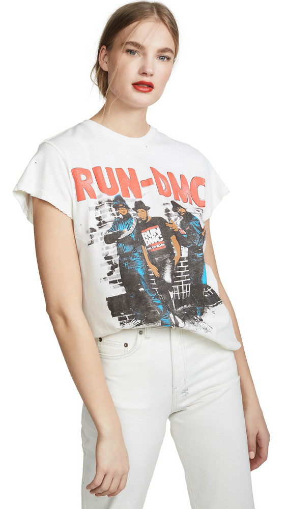 MADEWORN ROCK Run DMC T-Shirt in white