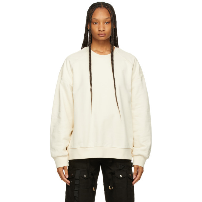 Juun.J Beige Graphic Detail Sweatshirt in ivory