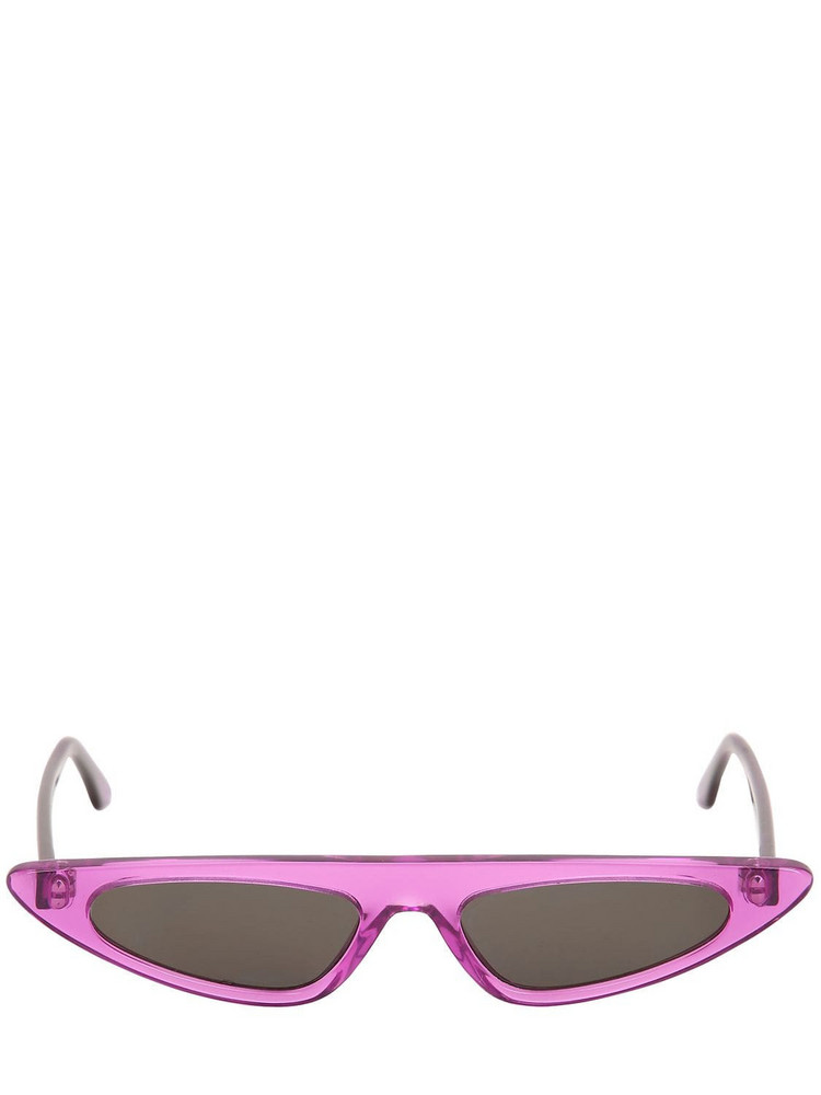 ANDY WOLF Florence Cat-eye Acetate Sunglasses in black / purple