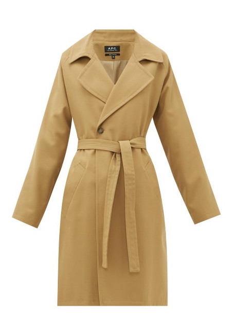 A.P.C. A.p.c. - Bakerstreet Belted Twill Coat - Womens - Camel