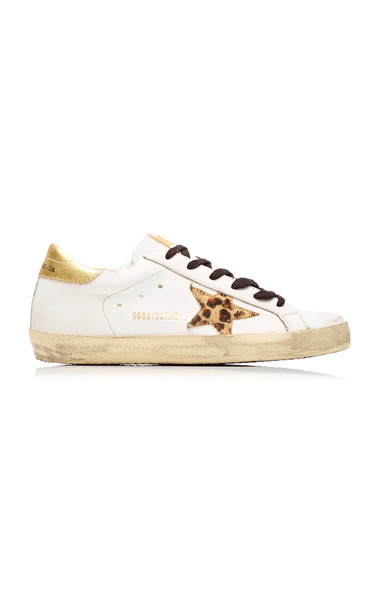 Golden Goose Glitter High-Top Leather Sneakers Size: 36 in multi