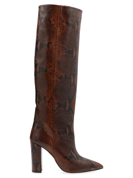 Paris Texas snake Print Shoes