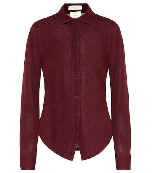Bottega Veneta Sable jersey shirt in red