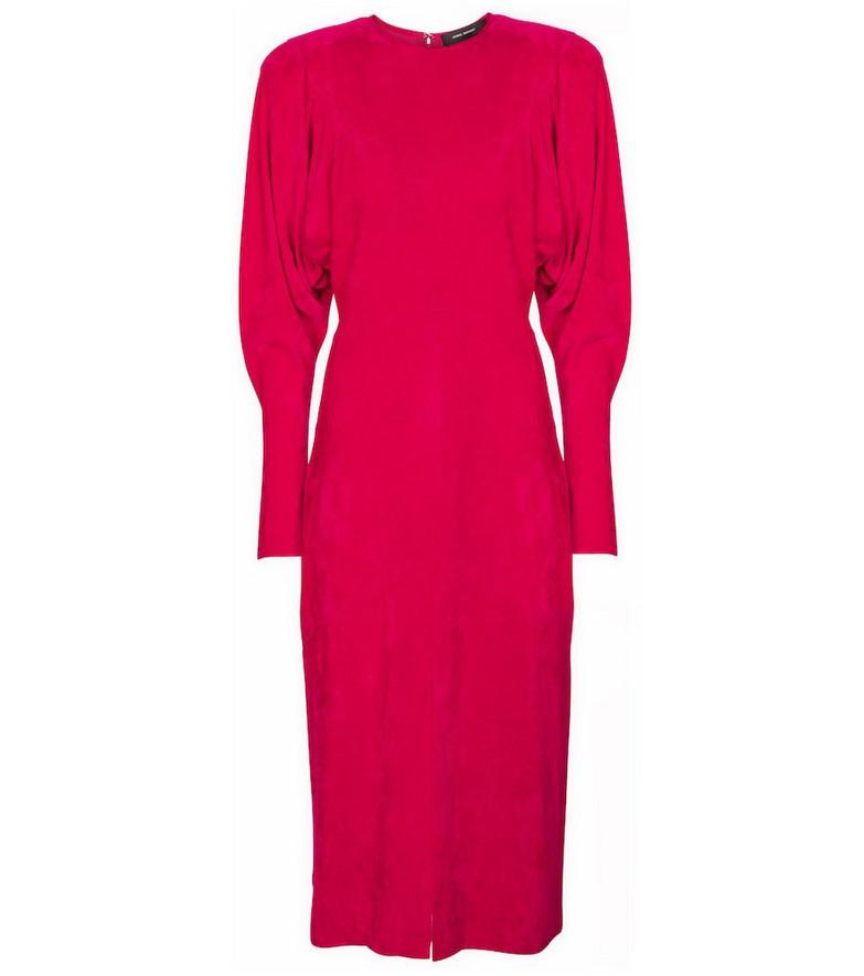 Isabel Marant Venia corduroy midi dress in pink