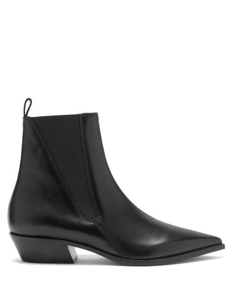 Burberry - Grampian Leather Chelsea Boots - Womens - Black