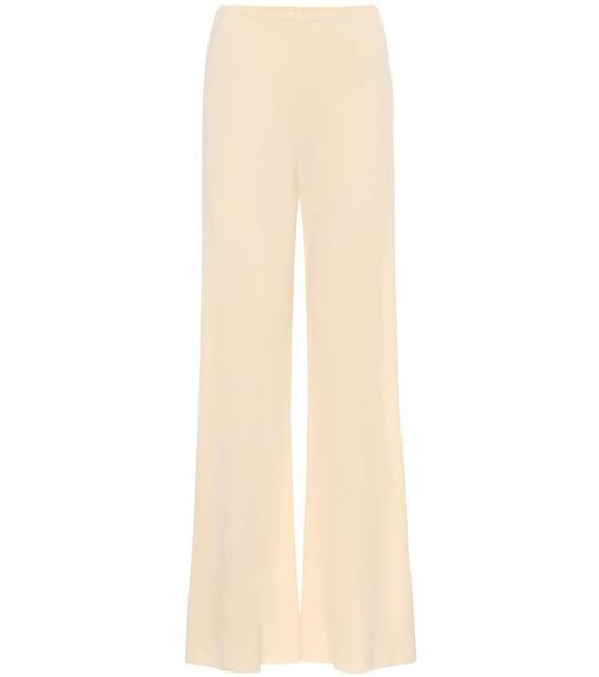 The Row Gala crêpe wide-leg pants in beige