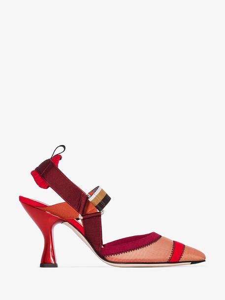 Fendi Colibri slingback pumps in red
