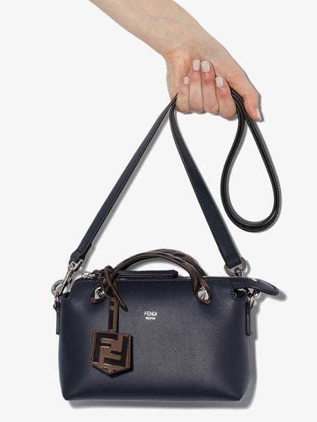 Fendi blue By The Way leather mini bag