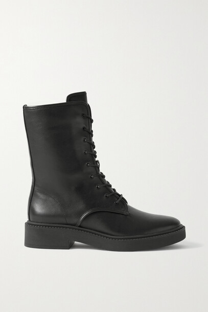 Vince - Kady Leather Ankle Boots - Black