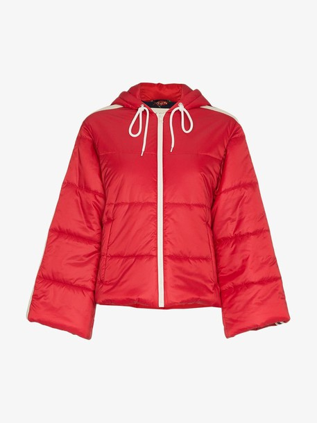 Gucci short padded puffer jacket in red