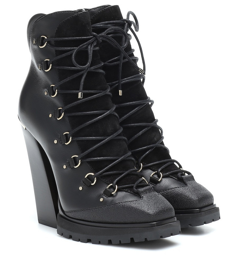 Jimmy Choo Madyn 130 leather ankle boots in black