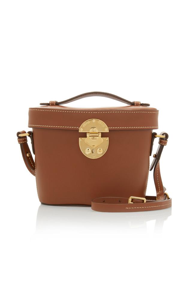 Miu Miu City Calf Bucket Bag in brown