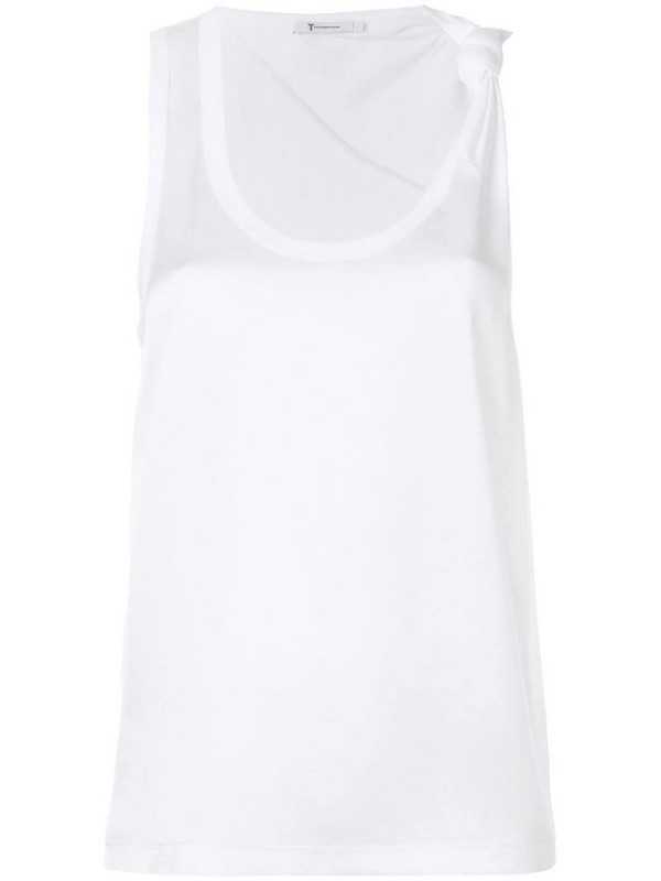 T By Alexander Wang combined tank top in white