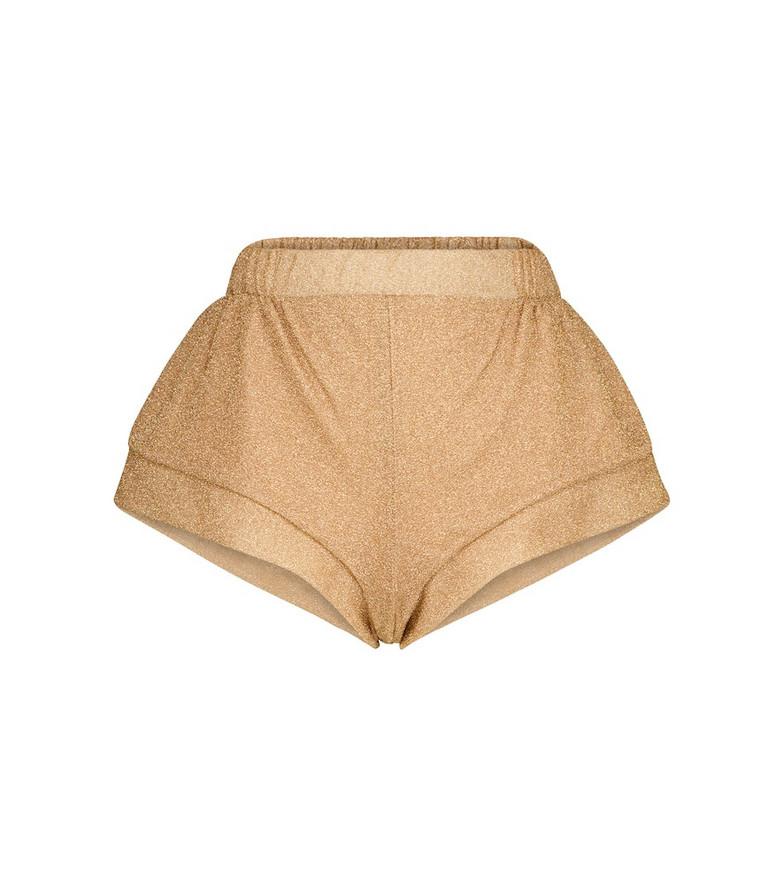 Oséree Lumière shorts in gold