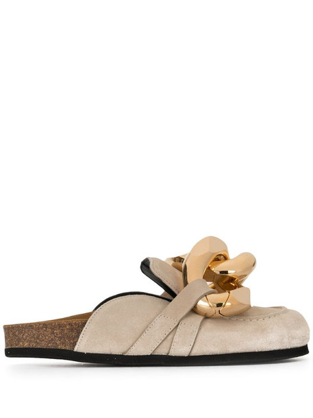 JW Anderson Chain loafer mules in neutrals