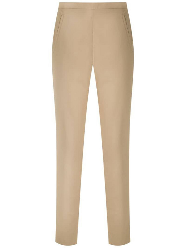Andrea Marques side pockets straight trousers in neutrals