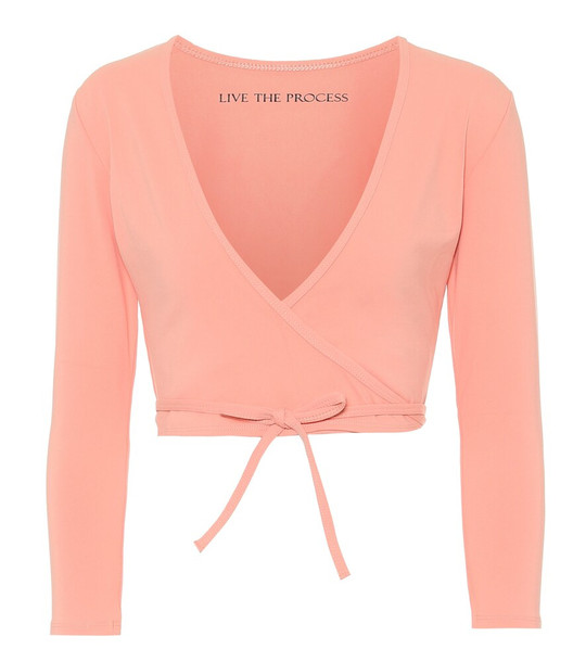 Live The Process Zen Wrap cardigan in pink