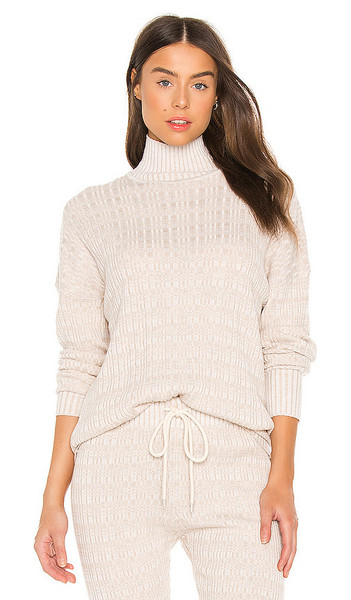 Varley Georgina Sweater in Beige in ivory