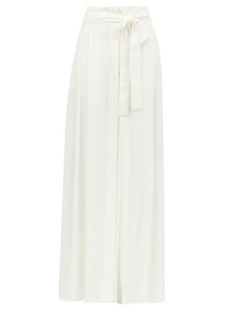 Ann Demeulemeester - Belted Cotton-blend Maxi Skirt - Womens - White