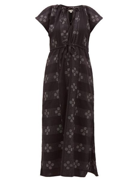 Ace & Jig - Isla Tulip Jacquard Cotton Midi Dress - Womens - Black White