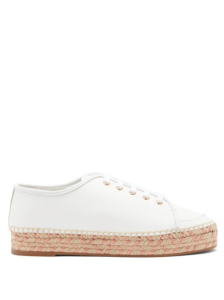 Sophia Webster - Tulla Leather Espadrille Trainers - Womens - White