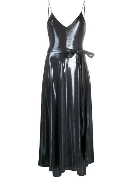 ROTATE Alma metallic dress in black