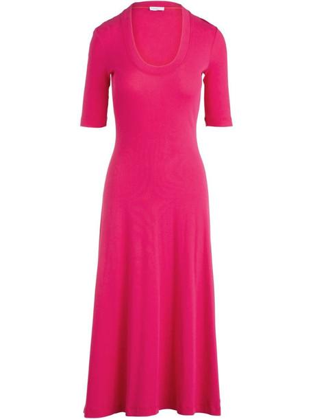Rosetta Getty flared midi dress in pink